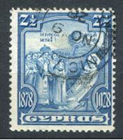 Изображение Кипр 1928 г. Gb# 126 • 2 1/2 pi. 50-летие Британского правления • Used VF ( кат.- £2,5 )