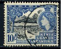 """Изображение Кения, Уганда и Танганьика 1954-9 гг. Gb# 175 • 10 sh. Королевская резиденция """"Сагана""""(Кения) • Used XF ( кат.- £6 )"""