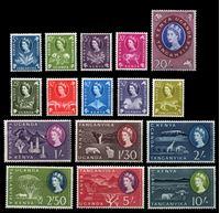 Изображение Кения, Уганда и Танганьика 1960-2 гг. Gb# 183-98 • 5c. - 20sh. • MLH OG XF • полн. серия ( кат.- £65 )