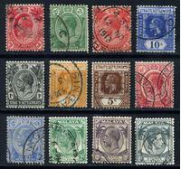Изображение Стрейтс Сетлментс 1906-37 гг.  • лот 12 марок • стандарт • Used VF