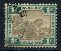 Picture of Малайя Федеративные штаты 1900-1 гг. Gb# 15a • 1c. тигр • Used VF ( кат.- £1 )