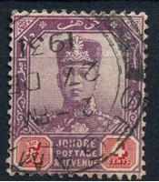 Image de Малайя •   Джохор 1910-19 гг. Gb# 81 • 4c. султан Ибрагим • Used XF ( кат.- £1 )