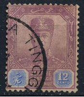 Image de Малайя •   Джохор 1922-41 гг. Gb# 113 • 12c. султан Ибрагим • Used XF ( кат.- £1,25 )