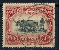 Изображение Малайя • Кедах 1921-32 гг. Gb# 34 • 30c. буйвол на пашне • Used XF ( кат.- £12 )