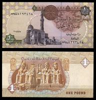 Bild von Египет 2008 г. P# 50 • 1 фунт • Мечеть султана Каит-бея • регулярный выпуск • UNC пресс