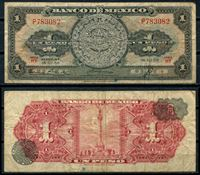 Picture of Мексика 1959 г. P# 59 • 1 песо • регулярный выпуск • F