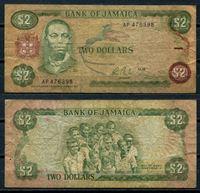 Изображение Ямайка 1985 г. P# 69a • 2 доллара • регулярный выпуск • F