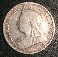 Изображение Великобритания 1893 г. • KM# 780 • 1 шиллинг • (серебро) • регулярный выпуск • VF-