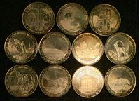 Bild von Армения 2012 г. • 50 драмов • комплект 11 монет. Достопримечательности Армении • памятный выпуск • MS BU люкс!