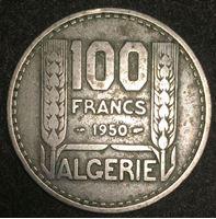 Изображение Алжир 1950 г. KM# 93 • 100 франков • регулярный выпуск • XF