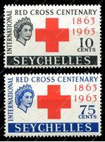 Изображение Сейшелы 1963г. GB# 214-5 • Красный крест • MNH OG VF • полн. серия