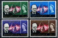 Изображение Сейшелы 1966г. GB# 222-5 • Уинстон Черчилль • MNH OG VF • полн. серия