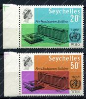 Изображение Сейшелы 1966г. GB# 228-9 • Всемирная организация здравоохранения(ВОЗ) • MNH OG XF • полн. серия