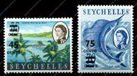 Изображение Сейшелы 1965г. GB# 216-7 • надпечатки нов. номиналов • MNH OG XF • полн. серия