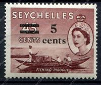 Изображение Сейшелы 1957г. GB# 191 • 5c. на 45с. • MNH OG XF