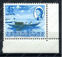 Изображение Сейшелы 1962-8 гг. GB# 203 • 45c. индейская пирога • MNH OG XF+