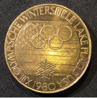 Picture of Германия ФРГ 1980 г. • Олимпиада-80. Лейк-Плэсид (фигурное катание) • медаль • UNC-