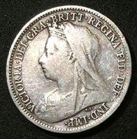 Изображение Великобритания 1899 г. • KM# 779 • 6 пенсов • Королева Виктория (серебро) • регулярный выпуск • XF- ( кат.- $30,00 )