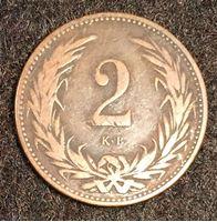 Image de Венгрия 1896 г. KM# 481 • 2 филлера • регулярный выпуск • VF+