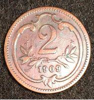 Image de Австрия 1909 г. KM# 2801 • 2 геллера • регулярный выпуск • XF
