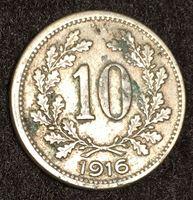 Image de Австрия 1916 г. KM# 2822 • 10 геллеров • регулярный выпуск • XF-
