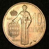 Bild von Монако 1974 г. KM# 142 • 10 сантимов • Принц Ренье III • регулярный выпуск • BU