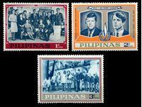 Image de Филиппины 1968 г. • 1,2 и 3c. • Братья Кеннеди (не выпущенные в обращение) • MNH OG XF