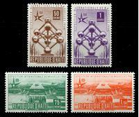 Bild von Гаити 1958 г. SC# 417-20 • Всемирная выставка ЭКСПО-58, Брюссель • MLH OG XF • полн. серия