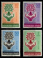 Bild von Гаити 1960 г. SC# 452-3, C150-1 • Год помощи беженцам • MNH OG XF • полн. серия