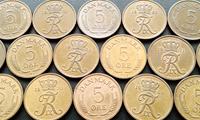 Изображение Дания 1960 - 1972 гг. • 5 эре • 15 монет - одним лотом. • VF