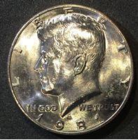 Picture of США 1981 г. D • KM# A202b • Джон Кеннеди • регулярный выпуск • MS BU люкс!