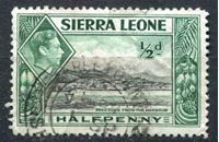 Изображение Сьерра-Леоне 1938-44 гг. Gb# 188 • Георг VI основной выпуск • 1/2d. • вид Фритауна с моря • Used VF ( кат.- £0,4 )