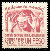 Image de Мексика 1945 г. SC# C154 • 1 p. • Кампания за грамотность населения • авиапочта • MNH OG XF