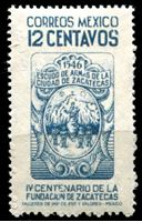 Image de Мексика 1946 г. SC# 821 • 12c. • 400-летие основания города Сакатекас • MNH OG XF