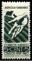 Изображение Мексика 1940 г. SC# 752 • 5c. • Перепись населения • MNH OG XF