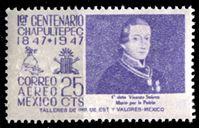 Изображение Мексика 1947 г. SC# C180 • 25c. • 100-летие сражения при Чапультепеке • авиапочта • MNH OG XF