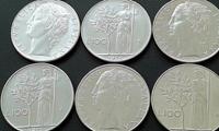 Image de 1955 - 1989 гг. • 100 L • 12 монет - одним лотом. • регулярный выпуск • VF+