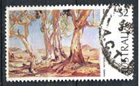 """Image de Австралия 1973-1984 гг. SC# 574 • 2$ • """"Красные деревья севера"""" (Ганс Хейзен) • Used XF ( кат.- $0,65 )"""