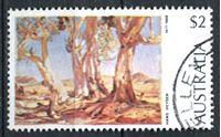 """Изображение Австралия 1973-1984 гг. SC# 574 • 2$ • """"Красные деревья севера"""" (Ганс Хейзен) • Used XF ( кат.- $0,65 )"""