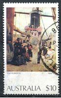 """Изображение Австралия 1973-1984 гг. SC# 579 • 10$ • """"Прибытие иммигрантов"""""""" (Том Робертс) • Used XF ( кат.- $3,75 )"""