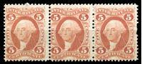 Image de США 1862-73 гг. SC# R24 • 5c. • президент Вашингтон. для сертификатов • фискальный выпуск • Mint NG VF • сцепка 3м.