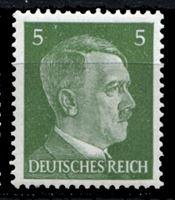 Изображение Германия 3-й рейх 1941-44 гг. Mi# 784 • 5 pf. • Адольф Гитлер • стандарт • MH OG XF ( кат.- €0,4 )