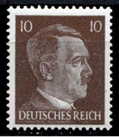Изображение Германия 3-й рейх 1941-44 гг. Mi# 787 • 10 pf. • Адольф Гитлер • стандарт • MH OG XF ( кат.- €1,2 )