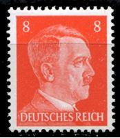 Изображение Германия 3-й рейх 1941-44 гг. Mi# 786 • 8 pf. • Адольф Гитлер • стандарт • MH OG XF ( кат.- €0,4 )