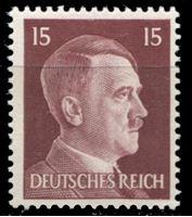 Изображение Германия 3-й рейх 1941-44 гг. Mi# 789 • 15 pf. • Адольф Гитлер • стандарт • MNH OG XF ( кат.- €0,5 )