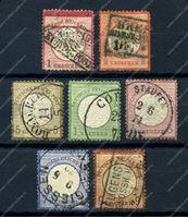 Изображение Германия 1872г. Mi# 18..27(SC# 16..25) • 1/2 gr.-9 kr. 7 марок • Used F-XF ( кат. - €825+)