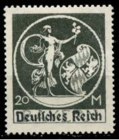 Изображение Германия 1920-21 гг. Mi# 138 II • 20 M. • редкая надпечатка тип II • MLH OG VF ( кат.- €55 )