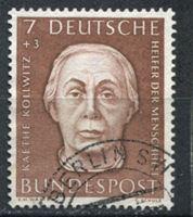 Изображение Германия ФРГ 1954 г. Mi# 200 • 7 + 3 pf. • Кете Кольвиц (художник-график) • Used XF ( кат.- €4 )
