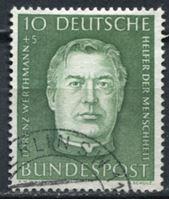 Изображение Германия ФРГ 1954 г. Mi# 201 • 10 + 5 pf. • Лоренц Вертман • Used XF ( кат.- €2 )