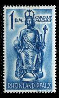 Изображение Германия   • Французская зона оккупации   • Рейнланд-Пфальц 1948 г. Mi# 29 • 1DM • Карл Великий • MH OG VF ( кат.- €20 )
